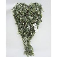 9 X 2 X 17 / 23 X 5 X 44CM PLASTIC ICE ANGEL PINE HEART SHAPE HANGING ORNAMENT.